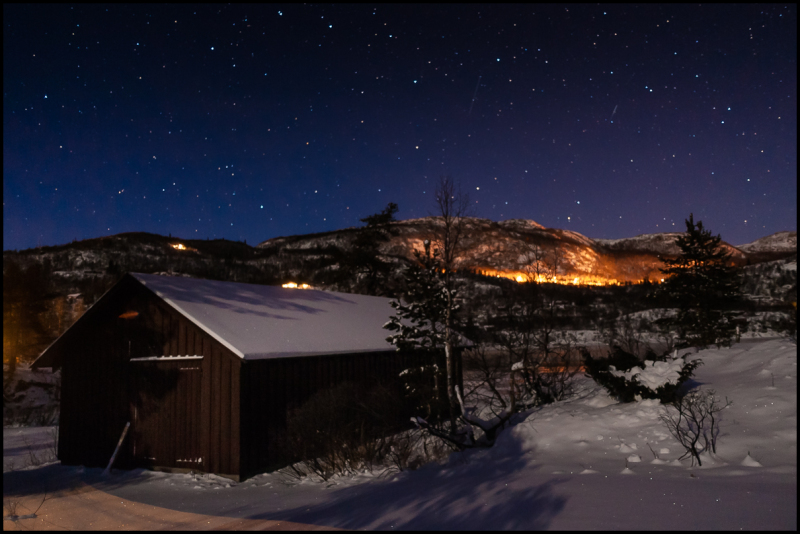 Winter night at Frøystul