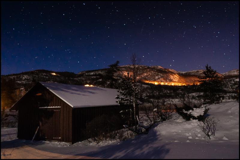 Winter night at Frøystul