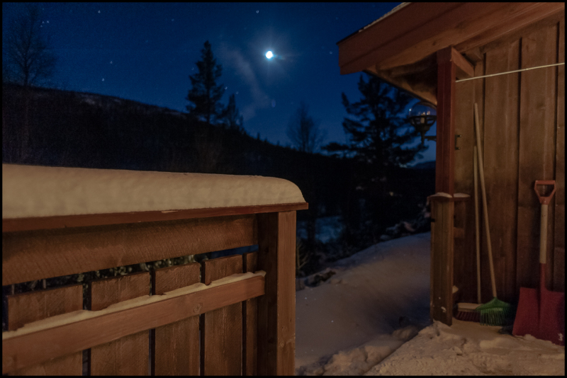 Winter night from the cabin