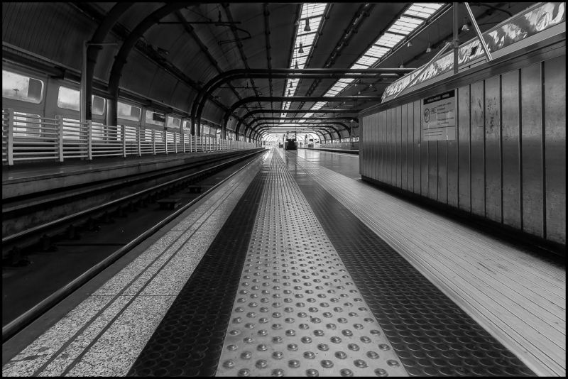 The trainstation at Fiumicino