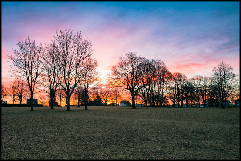 Melløsparken at sunrise