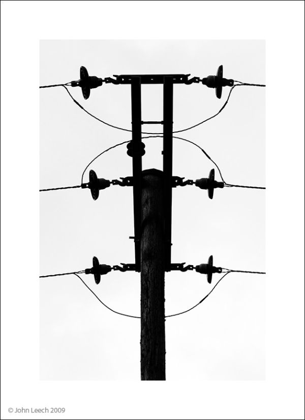 power cable telegraph pole line black contrast sta
