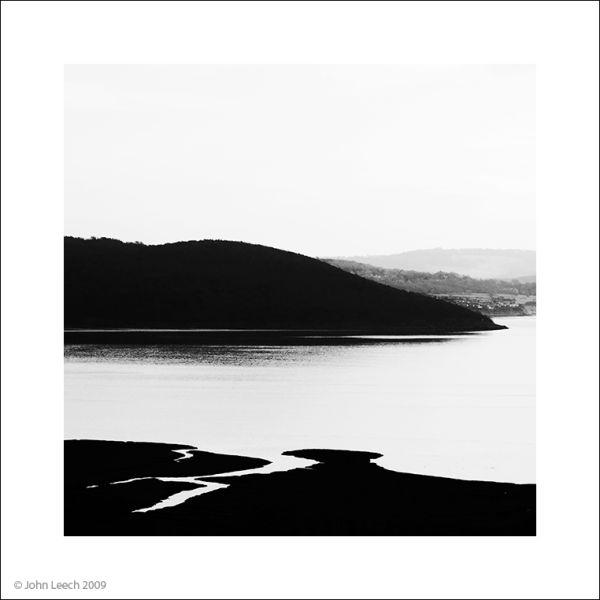grange over sands morecambe bay black and white