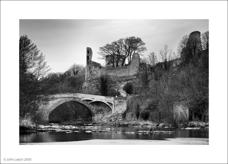 barnard castle black and white river
