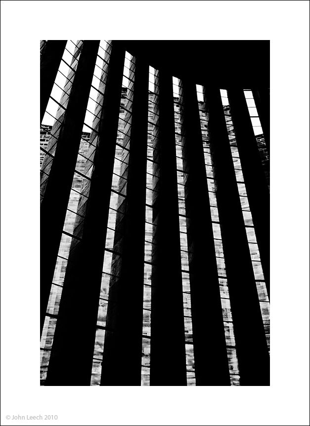 """coventry cathedral """"john leech"""" black white photo"""