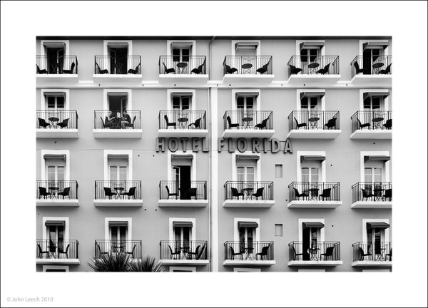 florida hotel biaritz france black white