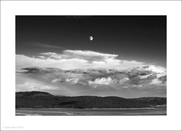 moonrise arnside knot john leech black and white