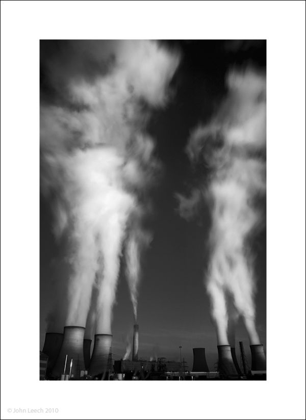 power station plumes of smoke cloud