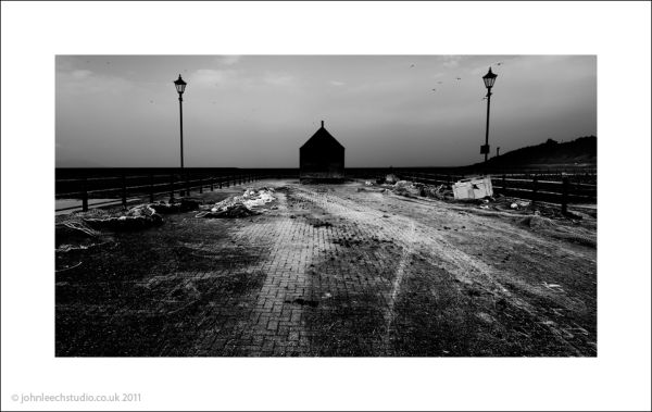 maryport dock black and white photograph
