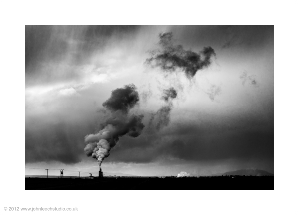 steam chimney iceland landscape photograph