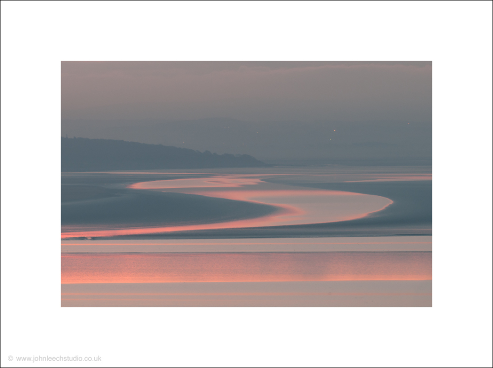 pastel dawn on Morecambe Bay