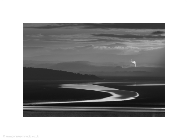 Morecambe Bay dawn - fine art black and white phot