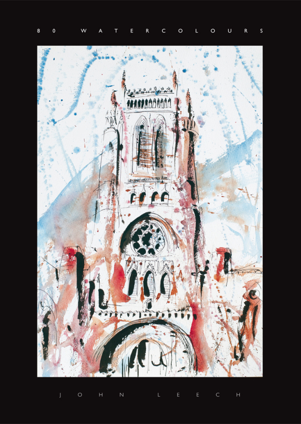 book of 80 architectural watercolour paintings