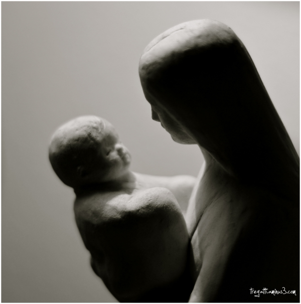 mother, baby, statue