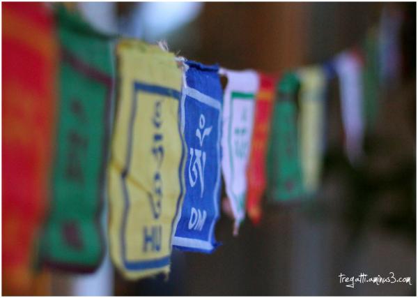 prayer flag, om