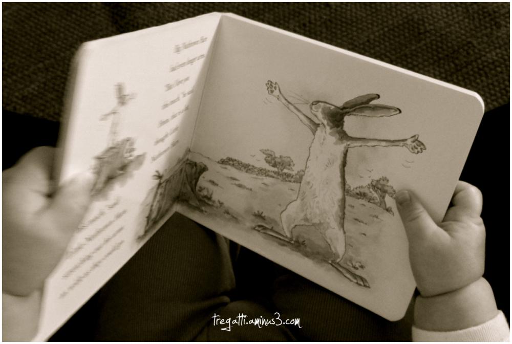 baby hands, book