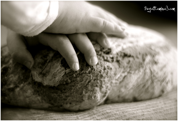 hands, bread