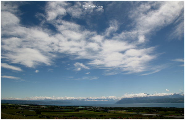 view, lake, mountains
