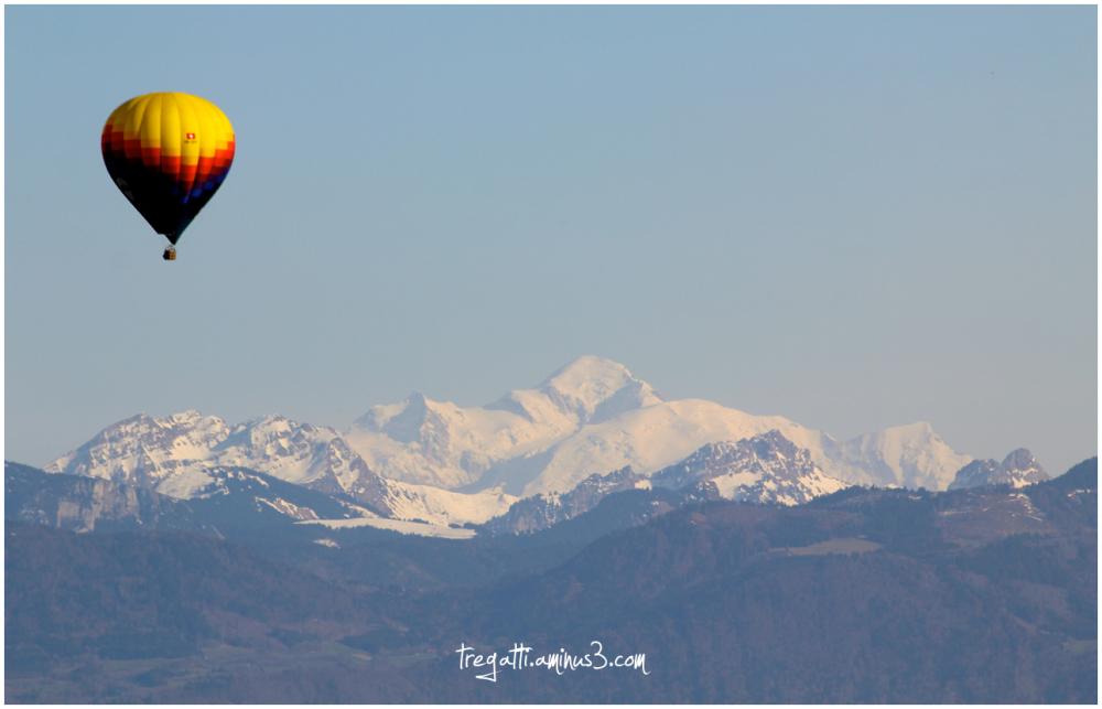 hot air balloon, mont blanc