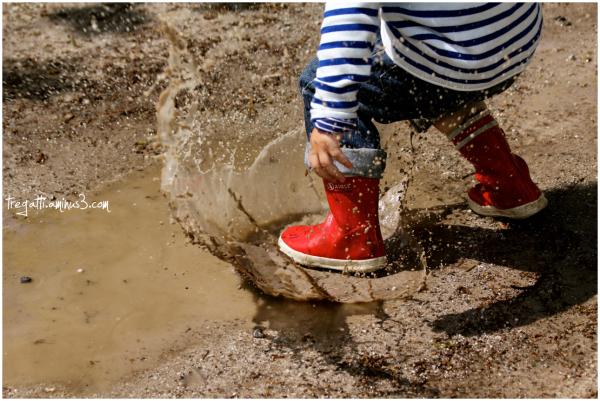 puddle, springtime, boots