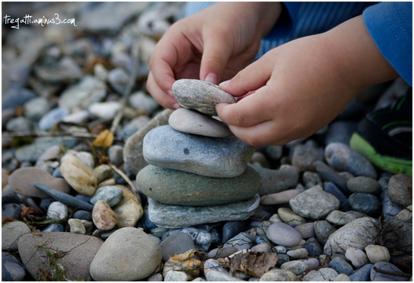 hands, stones, lake, hand