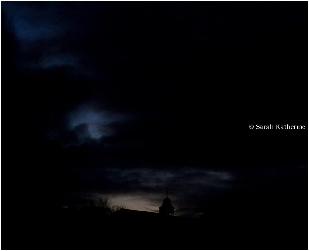 clouds, belfry