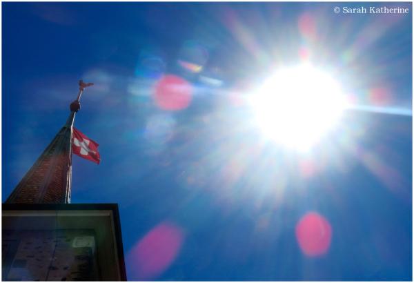 flag, sunlight