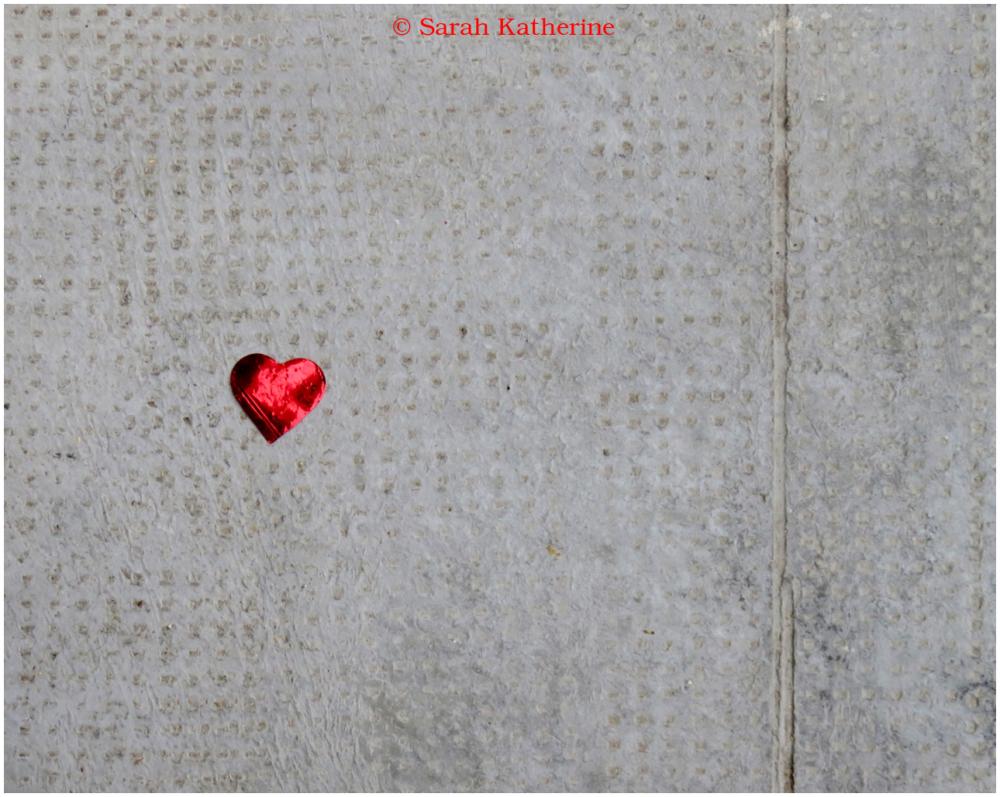 heart, pavement, street