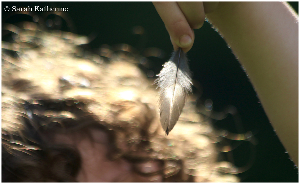 hand, hair, feather, spring