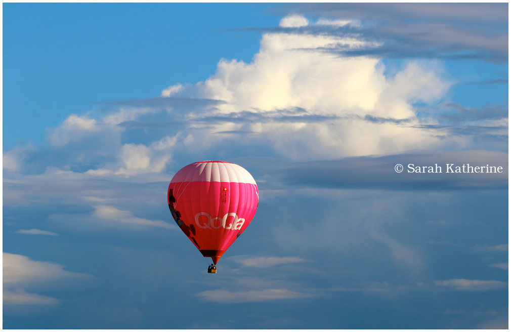 hot air balloon clouds