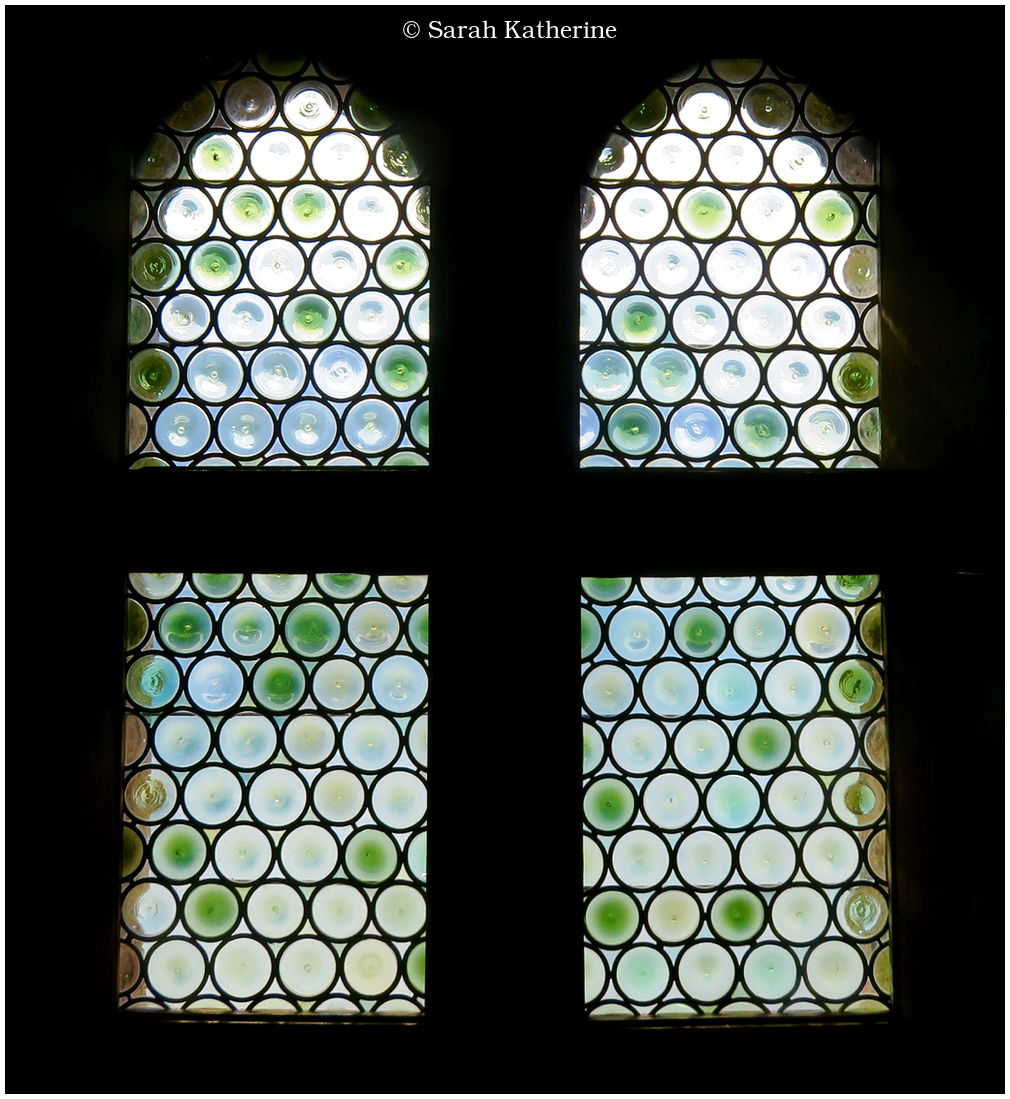 stained glass window chateau