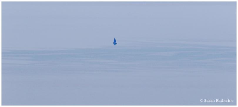 lake, boat, water, blue