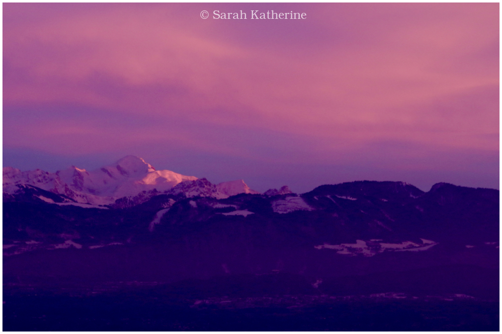 mont blanc, mountain, sunset