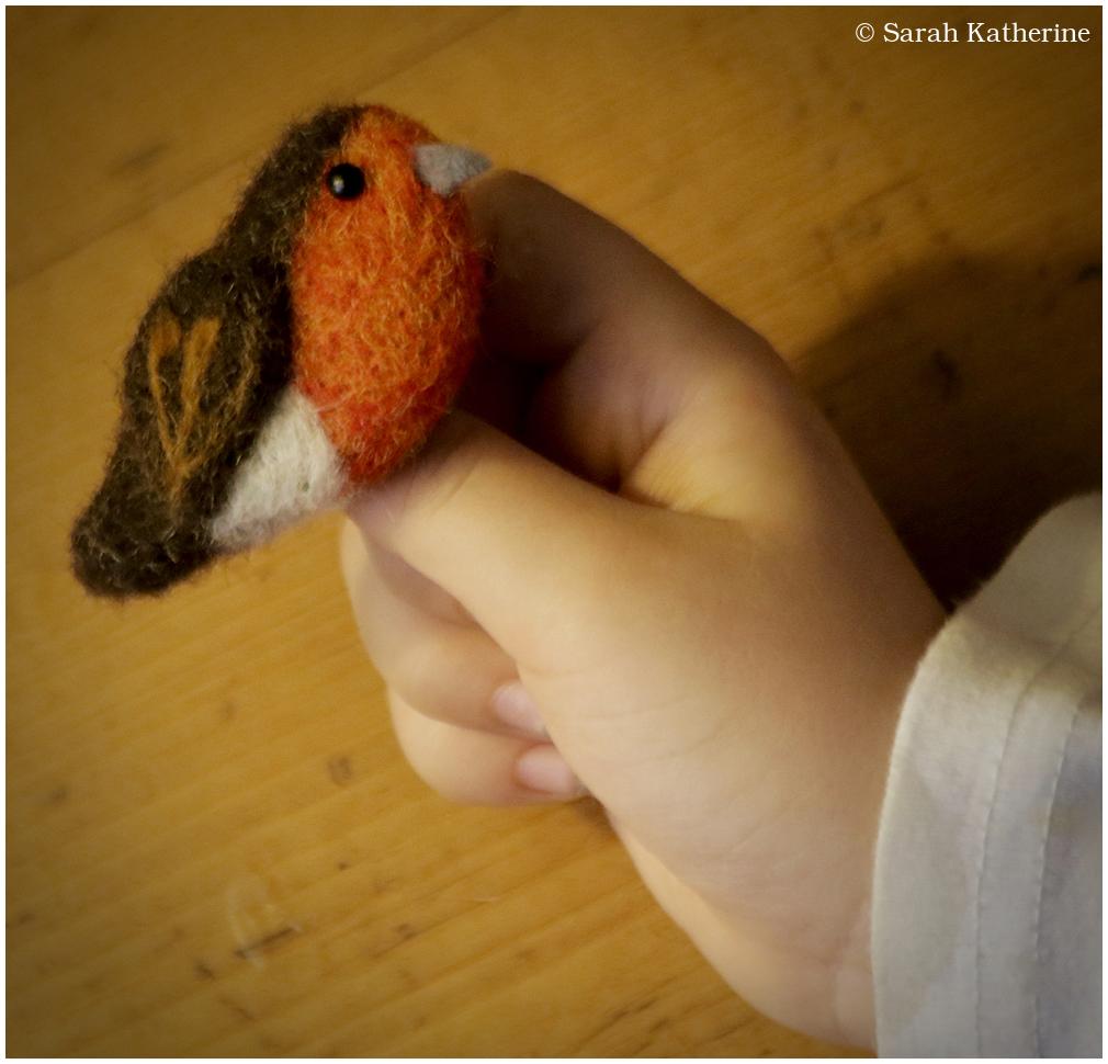 felt, wool, robin