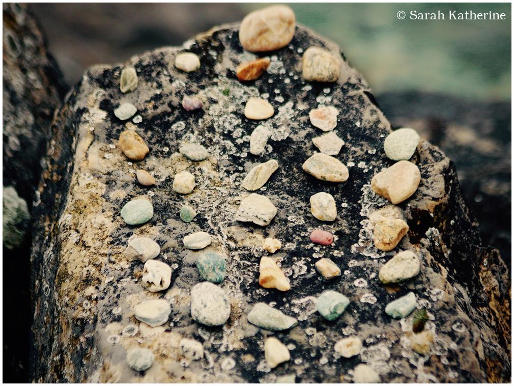 rocks, lake