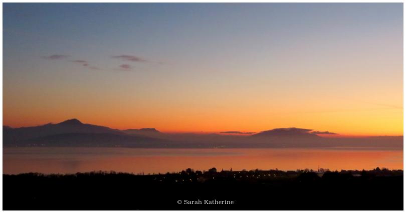 sunset, new year