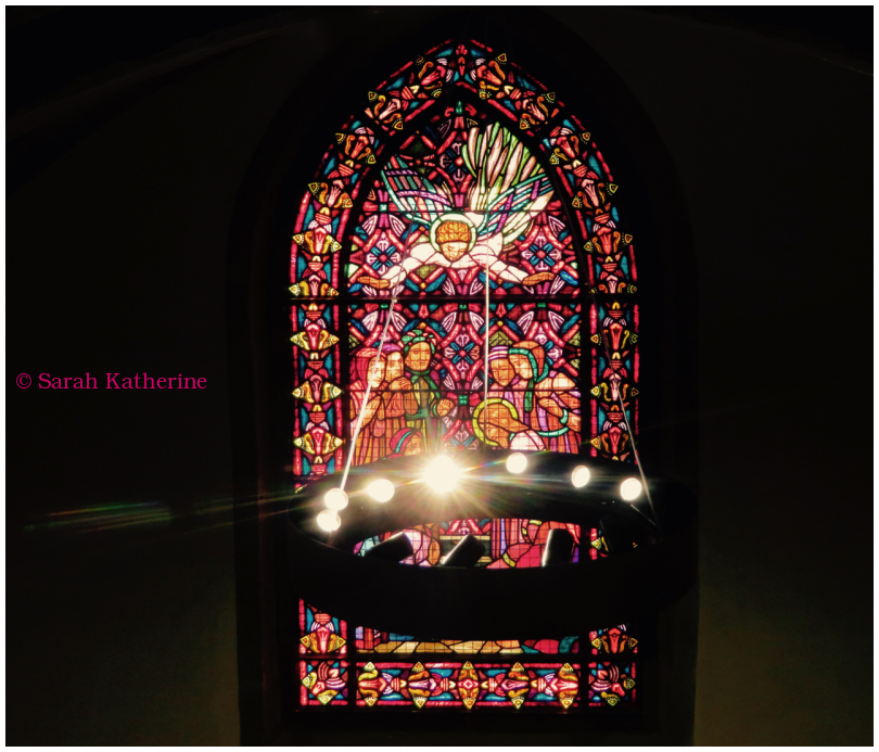 temple, stained glass, light, church
