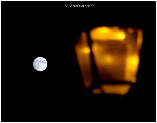 moon, street light, lamp