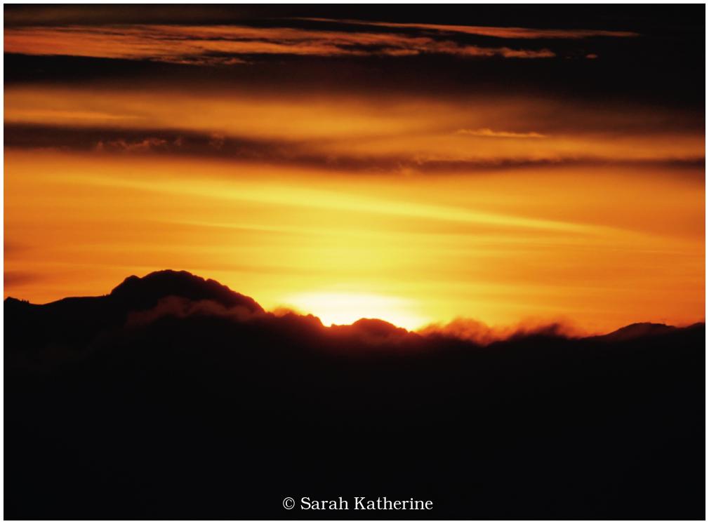 sunrise, mountains, alps