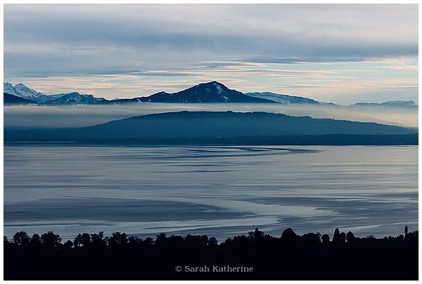winter, solstice, lake, mountain, blue