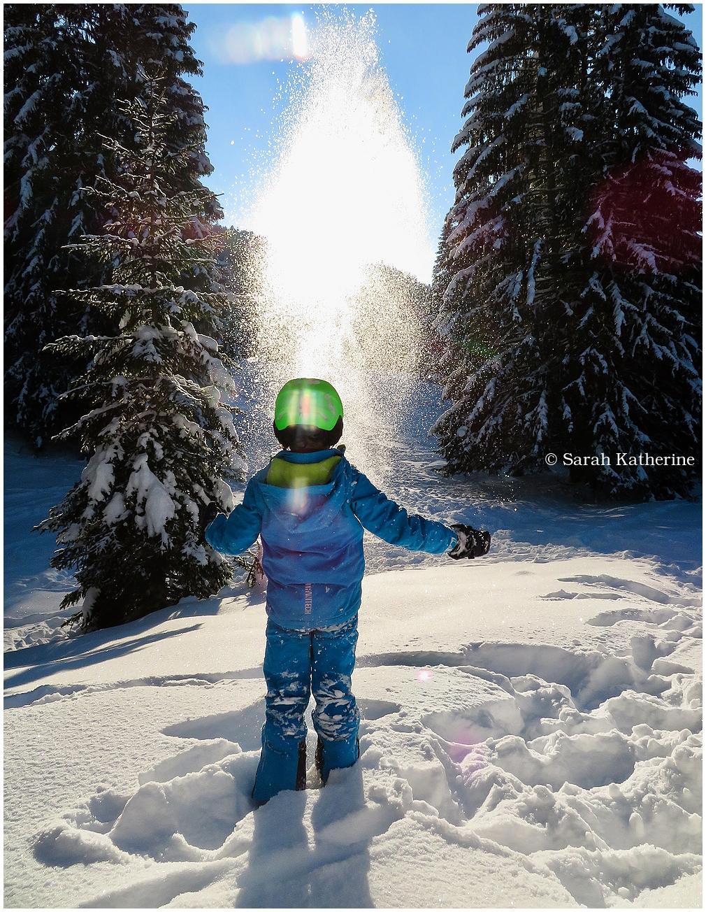 snow, mountain, winter, hand, sunlight, sun, trees