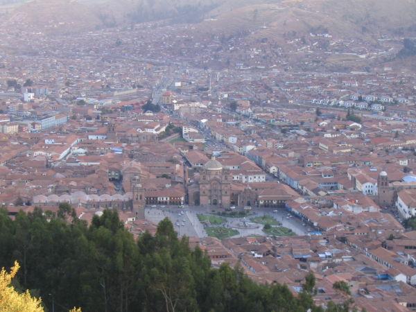 Vue plongeante sur Cusco