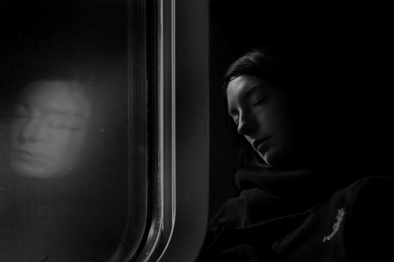 train, TGV, reflet, sommeil,
