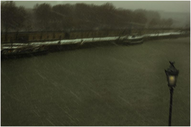 """"""" effet de neige"""" sur la Seine"""