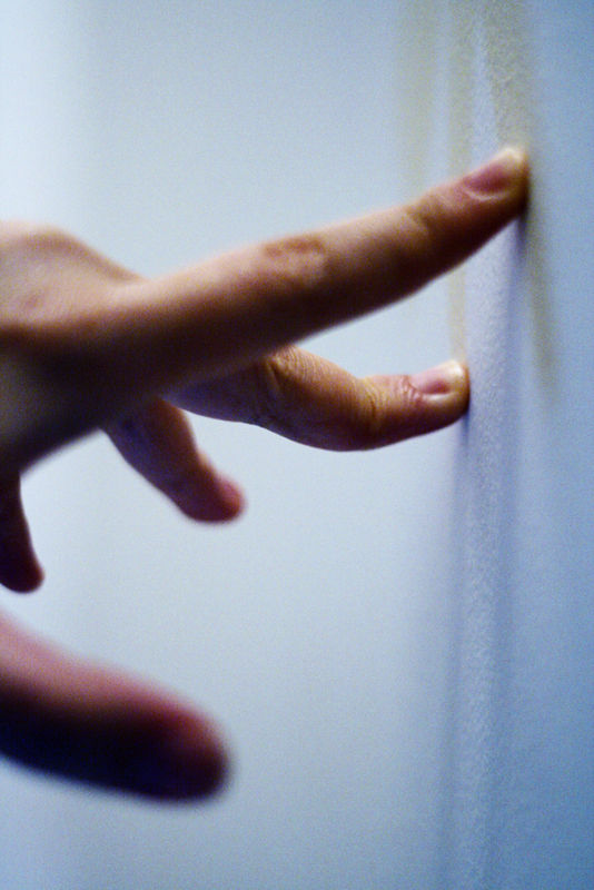 fingers hand wall