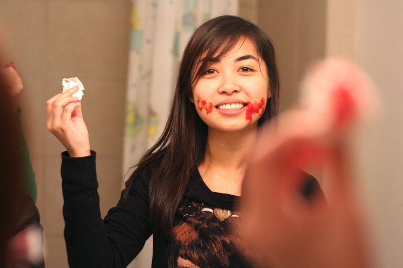 herm halloween blood tissue