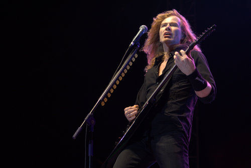 Dave Mustaine of Megadeth, at Rock in India 2008