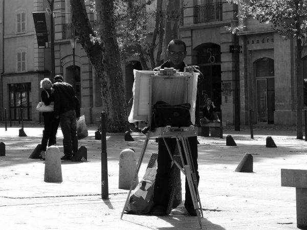 Le peintre de rue