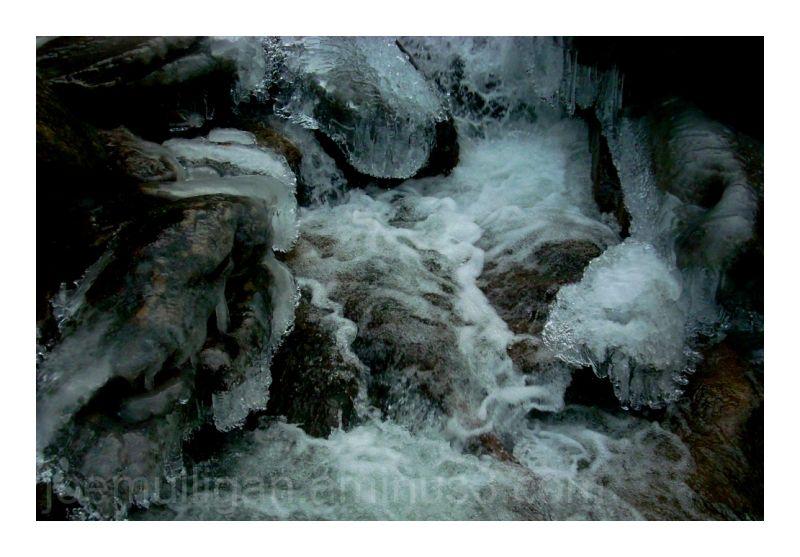 waterfall winter ice snow