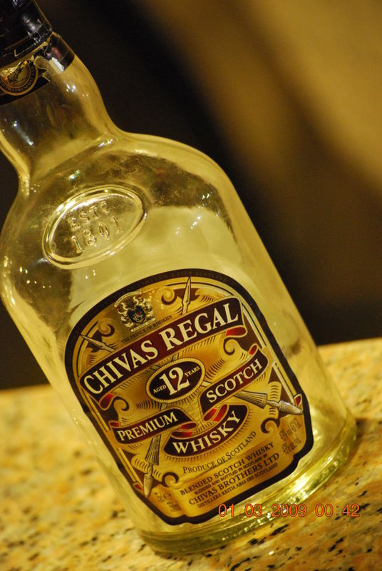 A bottle of chivas keep the accident coming